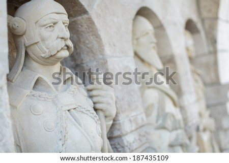 Fisherman's Bastion in Budapest - stock photo