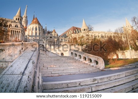 Fisherman's Bastion in Budapest, Hungary - stock photo