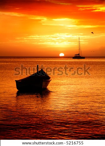 Fisherman's Boats at Sunset