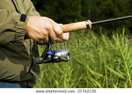 Fisherman's closeup - stock photo
