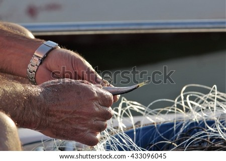 fisherman's hands
