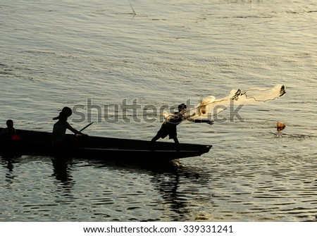 Fishermen and fishing methods of asia people