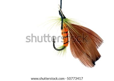 fishhook ,isolated - stock photo