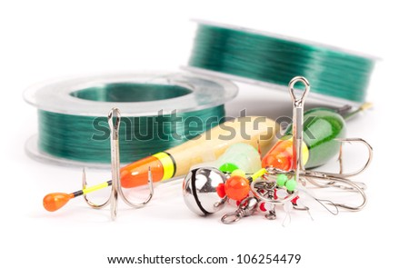 fishing  anchor hooks - stock photo
