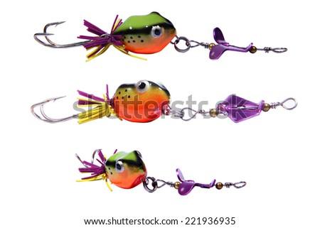 fishing baits isolated on white background - stock photo