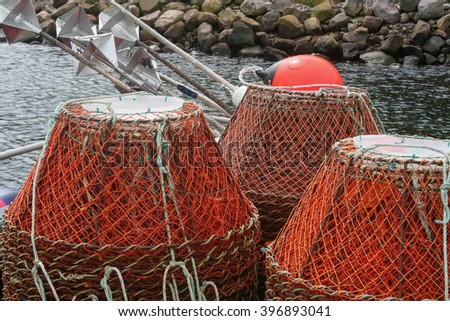 Fishing Basket Traps - stock photo