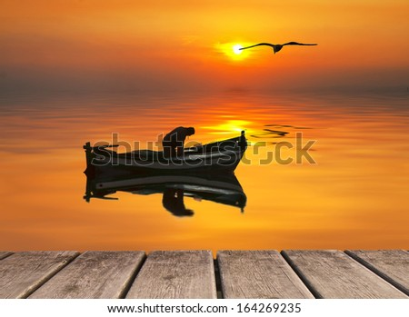Fishing begins at sunrise