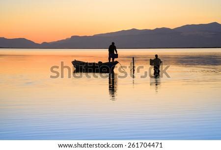 Fishing,boat - stock photo