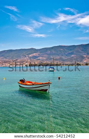 Fishing boat, Aegean sea, Poros, Greece - stock photo