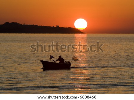 Fishing Boat and The Sun