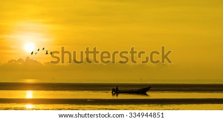 Fishing Boat at Sunrise
