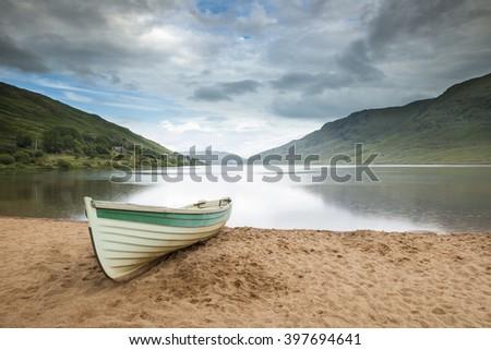 Fishing boat, Connemara, County Galway, Ireland - stock photo