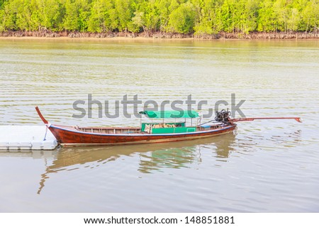 fishing boat for travel of people thailand - stock photo