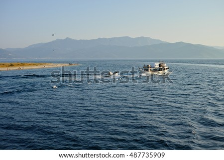 Fishing boat go to the sea / Greece