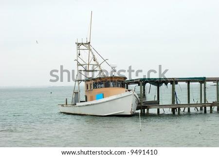 Fishing boat in Corpus Christi, Texas - stock photo