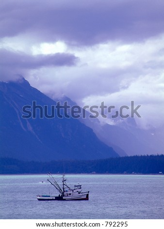 fishing boat near Haines,Alaska. - stock photo