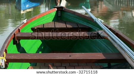 Fishing boat on the lake