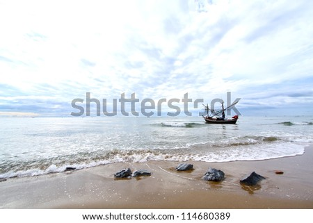 Fishing boat on the sea.
