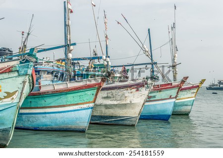 Fishing Boats in a Harbour 02 - stock photo