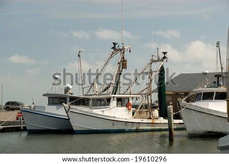 Fishing boats in Corpus Christi, Texas USA - stock photo