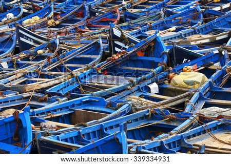 Fishing boats in Essaouira, Morocco, Africa - stock photo