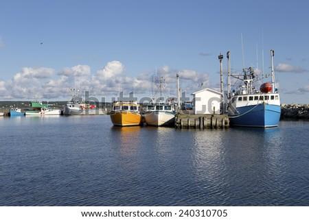 Fishing boats in North Sydney, Nova Scotia, Canada - stock photo