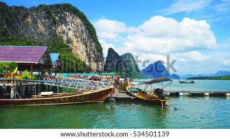 Fishing boats in Thailand