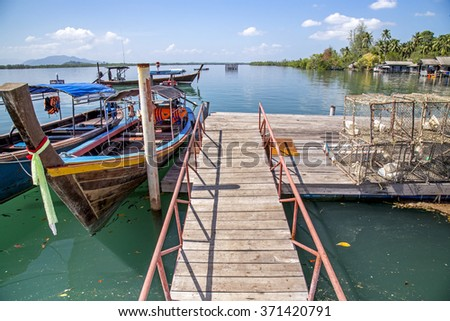 Fishing Boats in the Harbor, krabi, Thailand