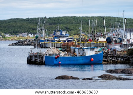 Fishing boats in Twillingate, Newfoundland