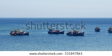 Fishing boats,Ly Son island,Quang Ngai,Viet Nam 7/2014