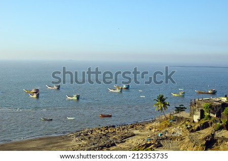 Fishing Colony in Indian Ocean (Bombay) - stock photo