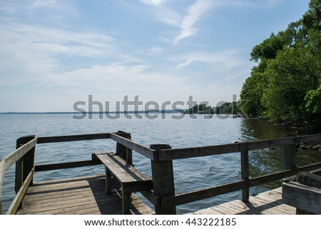 Fishing Dock In Perryville Community Park, Maryland - stock photo