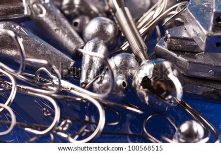 fishing equipment - stock photo