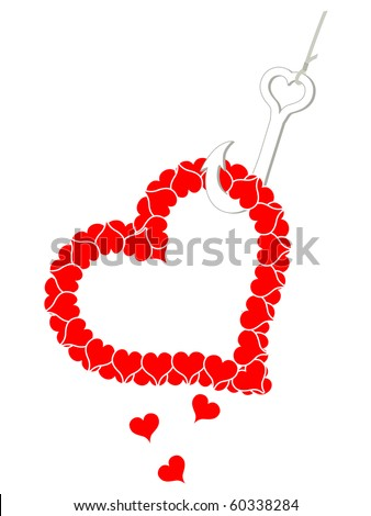 Fishing for Love - stock photo