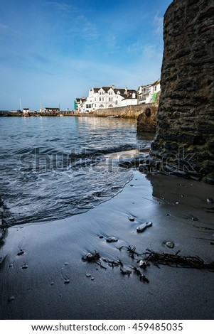 Fishing has always been central to Cornwall's economy, and it was fishing that drove the development of many of her coastal towns and coves - stock photo