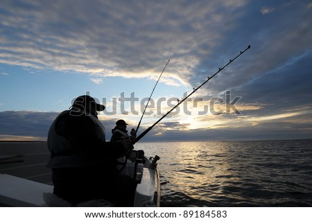 Fishing in Norway - stock photo