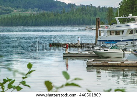 Fishing in the inlet of Alaska - stock photo