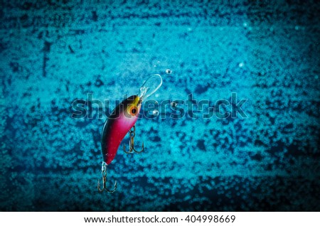 Fishing lure in action - stock photo