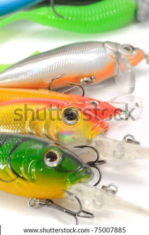 Fishing Lures (Wobblers) - stock photo