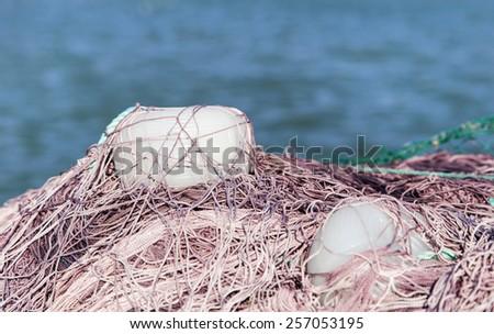 fishing-net - stock photo