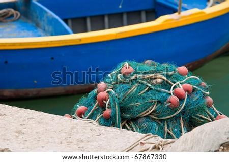 Fishing Net. - stock photo