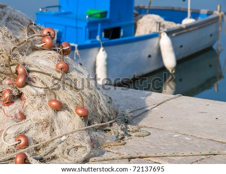Fishing Net. - stock photo