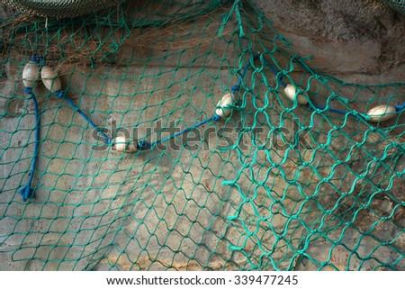 Fishing net texture.     - stock photo