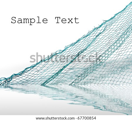 Fishing-net  with space for your text. - stock photo