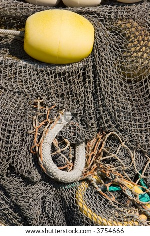 Fishing nets at Homer, Alaska - stock photo