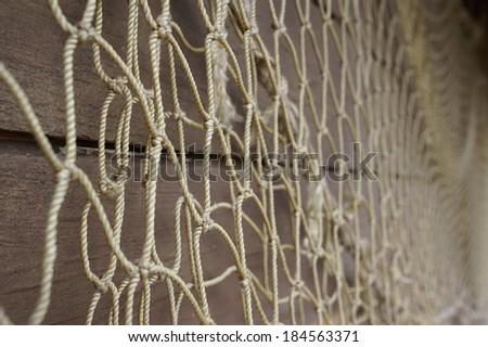Fishing nets. Bokeh. - stock photo