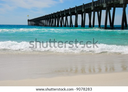 Pensacola beach stock images royalty free images for Pensacola beach fishing pier