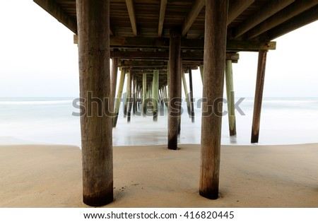 Abstract Landscape Under Bridge Water Stock Photo