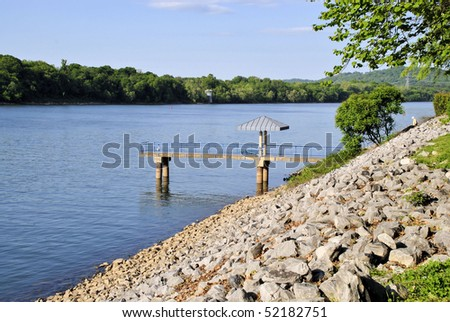 fishing pier on the river