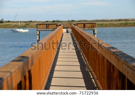 fishing pier on the river at st augustine florida usa